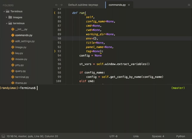 Terminal for Sublime Text